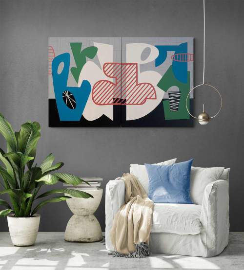 Marriage of Minds abstract canvas painting | Paintings by Gwen Gunter