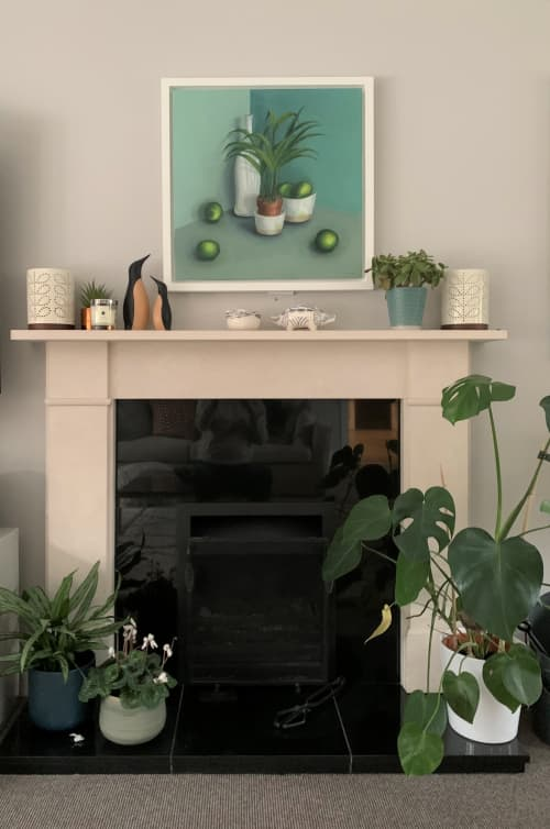 Paintings by Jonquilsart seen at Private Residence, Esher - Pots with limes and plant
