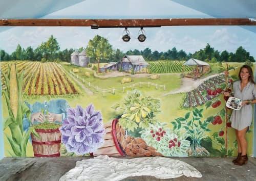 Murals by Brittany Rawls Art - Little Creek Market Mural