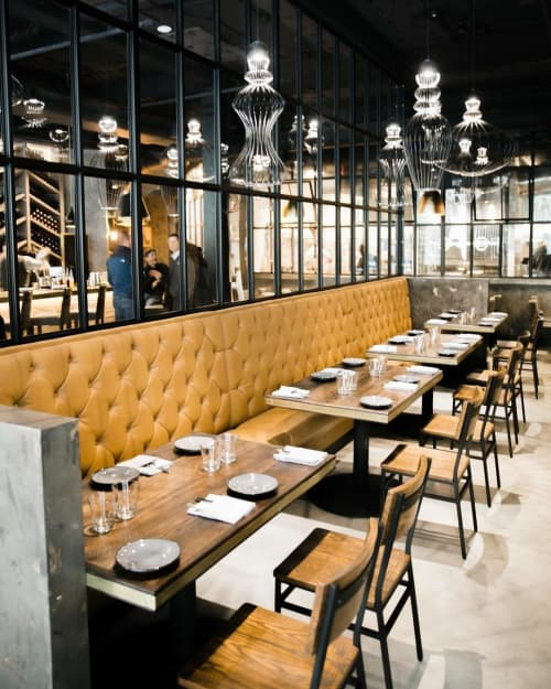 Custom Restaurant Tables   Tables by Rustic River Creations   Deacon's New South in Nashville