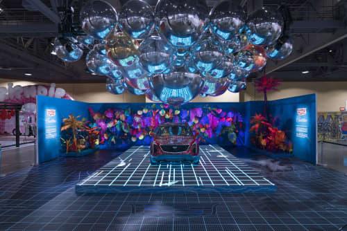Public Art by HFOUR Studio seen at Long Beach Convention & Entertainment Center, Long Beach, CA, Long Beach - Reality Reimagined