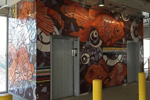 Public Mosaics by Eric Rausch seen at Greater Columbus Convention Center, Columbus - Fish Marks the Spot