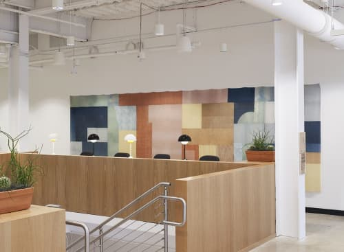 Wall Hangings by Hallie Brewer at WeWork Office Space & Coworking, Austin - WeWork Installation