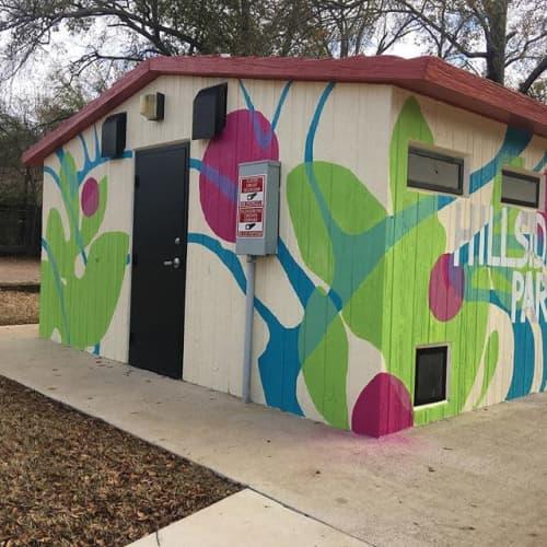 Murals by Lisa Rachel Horlander seen at Hillside Park, Tyler - mural