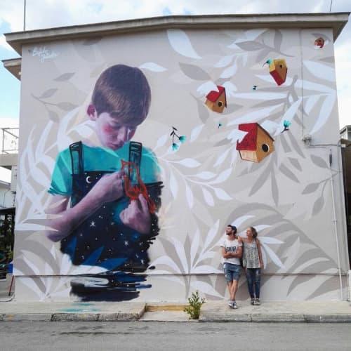 Deep Blue   Street Murals by Julieta XLF
