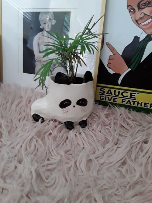 Panda Planter | Vases & Vessels by Gail Ceramics | Private Residence in Brisbane