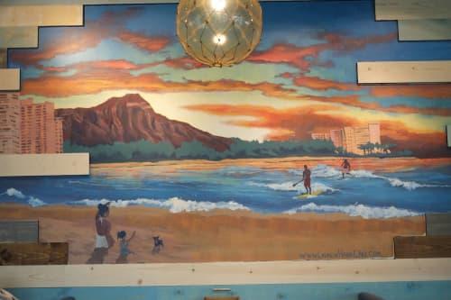 Murals by Lauren Hana Chai at Shorefyre - International Marketplace, Honolulu - Indoor Mural