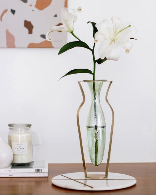 Vases & Vessels by Kitbox Design seen at Private Residence - Droplet Vase Tall