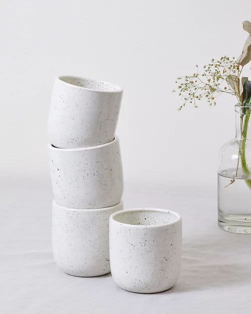 Speckled Tumblers | Cups by Stone + Sparrow