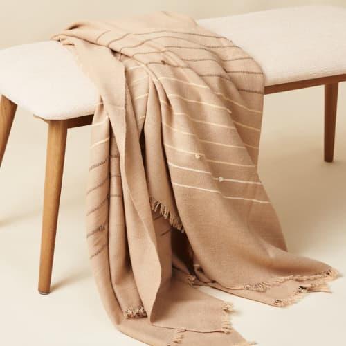 Terra Handloom Throw | Linens & Bedding by Studio Variously