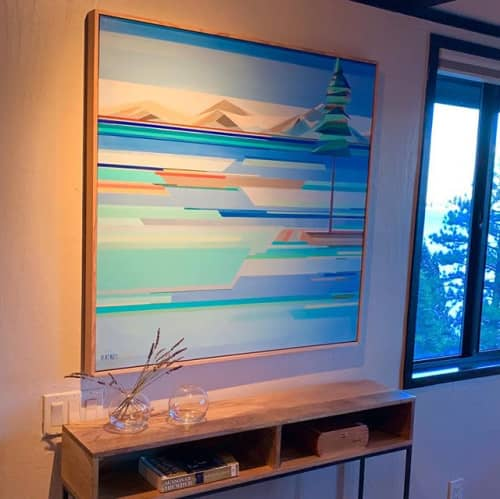 """""""By The Lake Painting""""   Paintings by Shilo Ratner"""