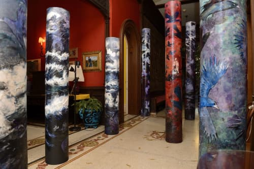 Art Curation by Rosemary Feit Covey seen at Evergreen Museum & Library Private Events, Baltimore - Pillars