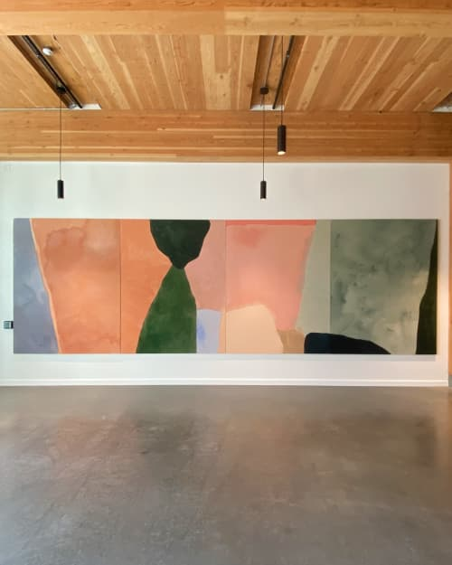 Paintings by maja dlugolecki at District Office, Portland - commission for district office 8' x 24'