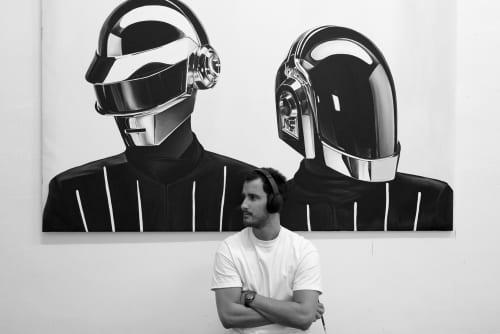 DaftPunk | Paintings by Ricardo Rodriguez Cosme