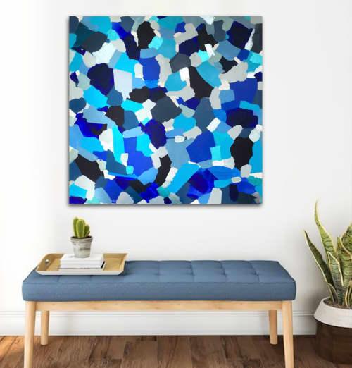 SOLD - 'SUMMERTiME BLUES' | Paintings by Linnea Heide contemporary fine art