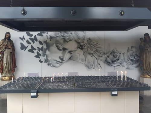 Murals by Artdrenaline at St Barbara Cemetery, Den Haag - Artdrenaline