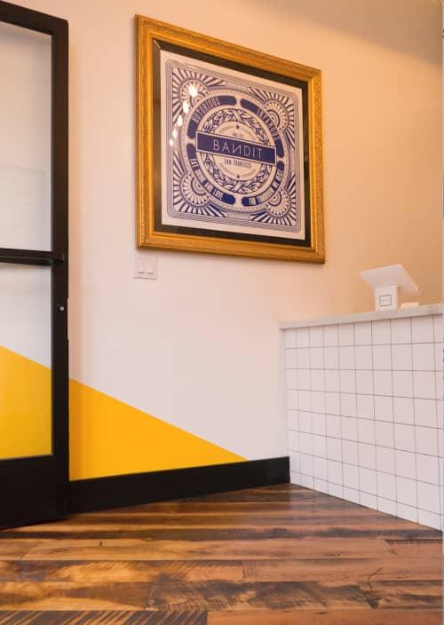 Interior Design by ANTLRE - Hannah Sitzer seen at Bandit, San Francisco - Bandit restaurant design, branding and art