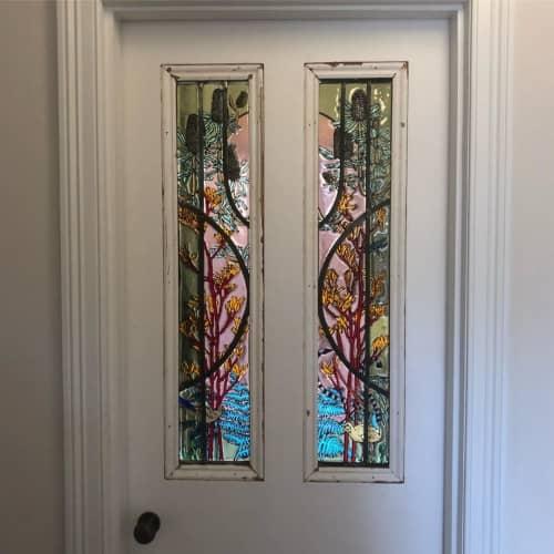 Murals by Nadine Keegan seen at BlueCross Ruckers Hill, Northcote - Glass Door Panel Mural