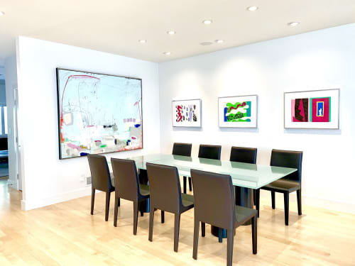 Paintings by Glenna Adkins seen at Private Residence, Denver - Abstract Painting