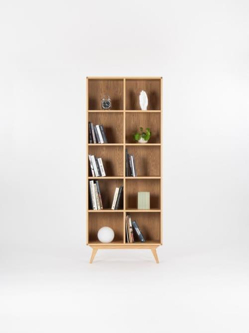 Furniture by Mo Woodwork seen at Stalowa Wola, Stalowa Wola - Bookcase, bookshelf, mid century modern, scandinavian, shelf