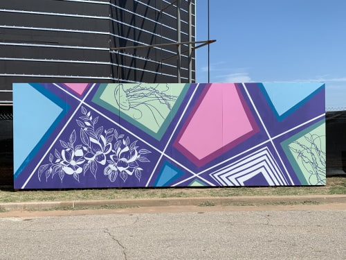 Street Murals by Brooke Rowlands seen at Oklahoma Contemporary Arts Center Showroom, Oklahoma City - Botanical