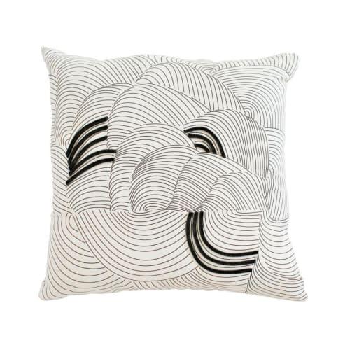 Pillows by Jill Malek Wallpaper - Cocoon Pillow   Charcoal