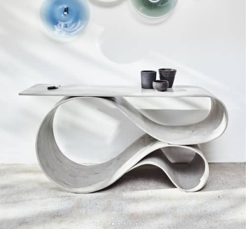 Tables by Neal Aronowitz seen at 1725 W 3rd Ave, Vancouver - Whorl Console in Concrete Canvas
