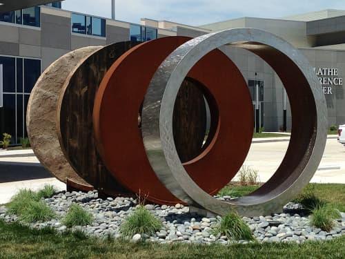 Public Sculptures by Amie Jacobsen Art and Design seen at Embassy Suites by Hilton Kansas City Olathe, Olathe - Wheels of Progress
