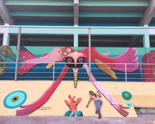 Guardian fantastico | Murals by Marisol D'Estrabeau | Alberca Olímpica in Cancún