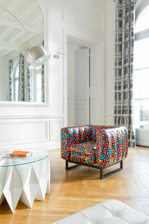 Chairs by MOJOW seen at Creator's Studio, Paris - Yomi Tagline Armchair