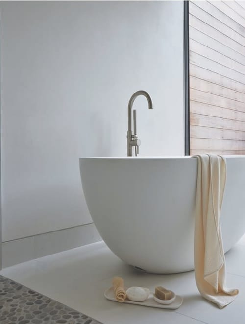 Vases & Vessels by Tina Frey seen at Shou Sugi Ban House, Water Mill - Round Bath Collection