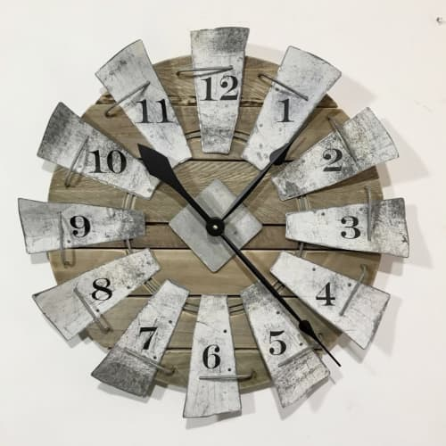 Windmill Clock   Art & Wall Decor by Girl In Her Shed