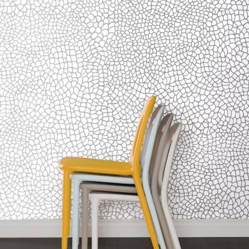 Wallpaper by Jill Malek Wallpaper - Peel | Silver