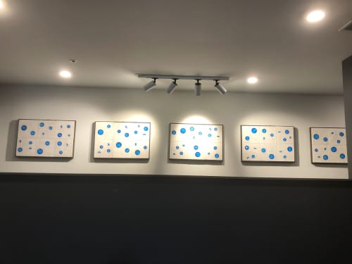 Wall Hangings by Ceramic Art by Jeff Pender seen at Sojourn Glenwood Place Apartments, Raleigh - 19 x 2 ft handmade wall tile sculpture