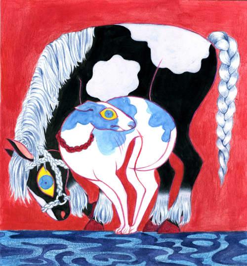 Paintings by Emily Alvarez seen at Private Residence, Kansas City - Gemini