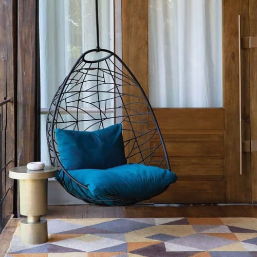Nest Egg - Twig Pattern - Black | Chairs by Studio Stirling | Singita Sweni Lodge in Kruger Park