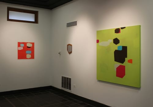 Stations of the Cube | 2010 | oil on canvas | 51 x 51 inches | Paintings by Steven Baris | Abington Art Center in Jenkintown