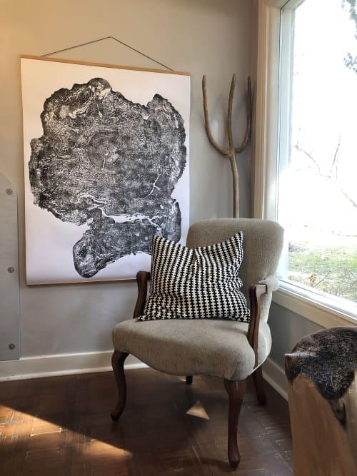 Tree Ring Print Big Leaf Maple From Massachusetts   Art & Wall Decor by Erik Linton