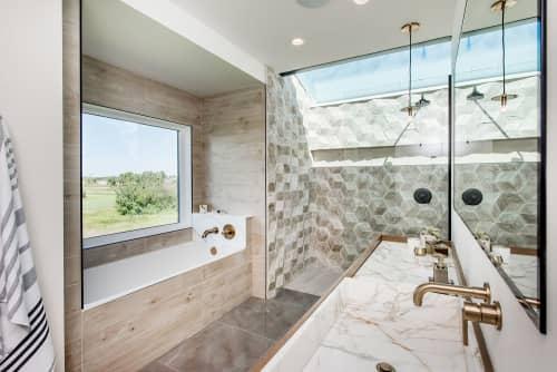 Hive 3D Hexagonal Tiles | Tiles by Giovanni Barbieri | Private House in Saskatoon, Canada in Saskatoon