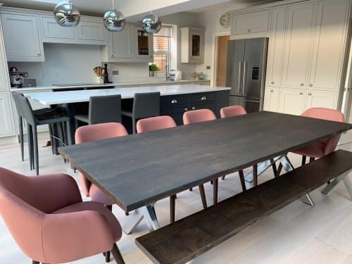 Solid Oak Table - Chrome X Legs | Tables by Rag & Byrne