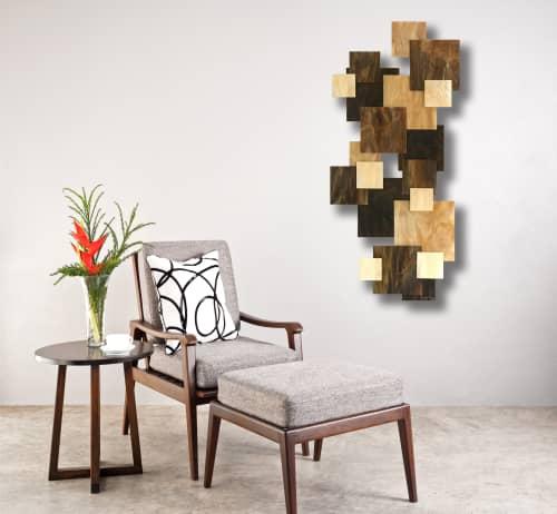 """Cosmos"" TTS Glass and Metal Wall Art Sculpture   Sculptures by Karo Studios"