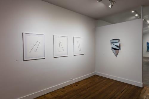 Sculptures by Dameon Lester seen at grayDUCK Gallery, Austin - Calving Sequences (a-d): Blue