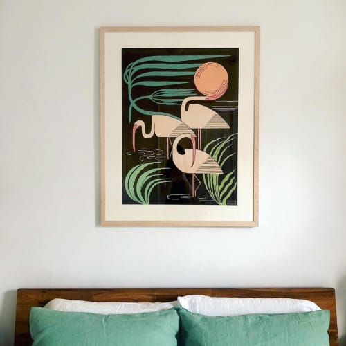 Art & Wall Decor by Mike Willcox seen at Private Residence, Buena Park - Ibis & Hurricane Print