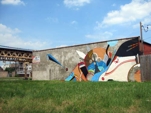 63rd Street Magic | Street Murals by Chris Silva | 6301 S St Lawrence Ave, Chicago, IL in Chicago
