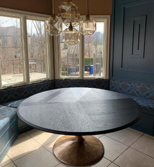 Round Pedestal Dining Table   Tables by The Rustic Hut
