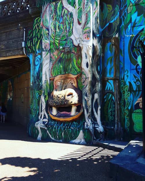 ZOO MANAGERIE   Murals by Paul Santoleri   Philadelphia Zoo in Philadelphia