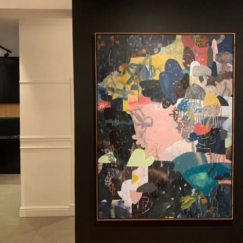 Paintings by Paul Senyol seen at Oranjezicht, Cape Town - 'Translate'