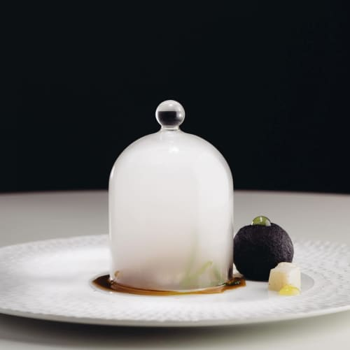 Texture plate Chuva | Ceramic Plates by Mieke Cuppen | Al Quimia in Olhos de Água