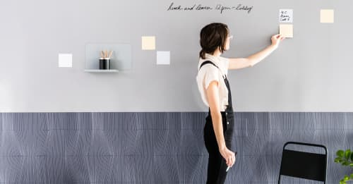 Wallpaper by Jill Malek Wallpaper at Workspace NY, New York - FORCES Magnetic Wallcoverings for Workspaces