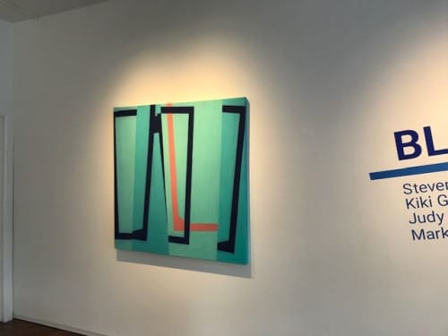 Jump Cut E12: Oil on canvas, 48 x 48, | Paintings by Steven Baris | Pentimenti Gallery in Philadelphia